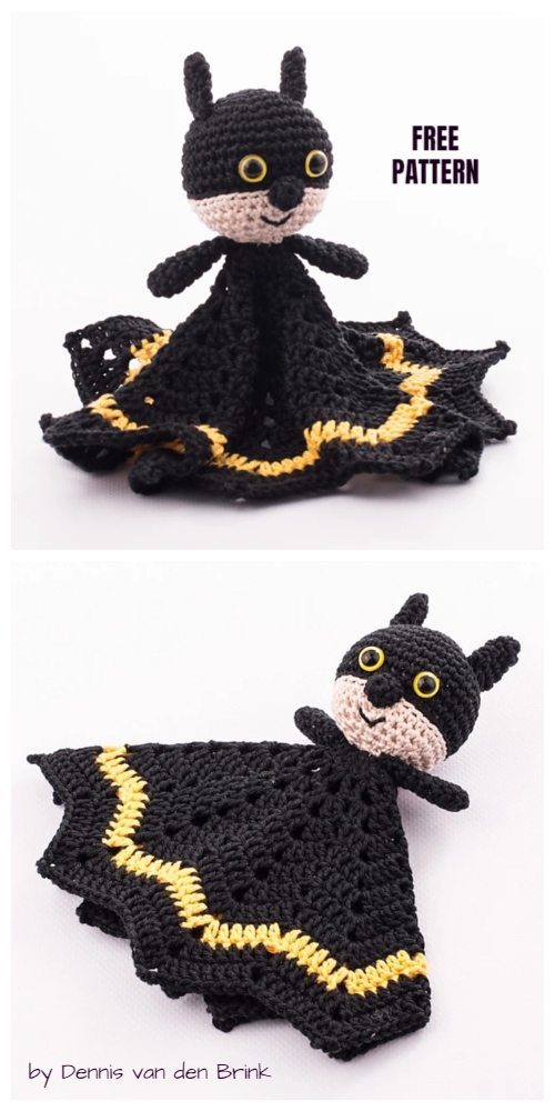 Crochet Batman Baby Lovey Blanket Free Crochet Patterns