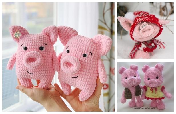 Cute Free Amigurumi Pig Pattern Design Ideas - Free Amigurumi ... | 400x616