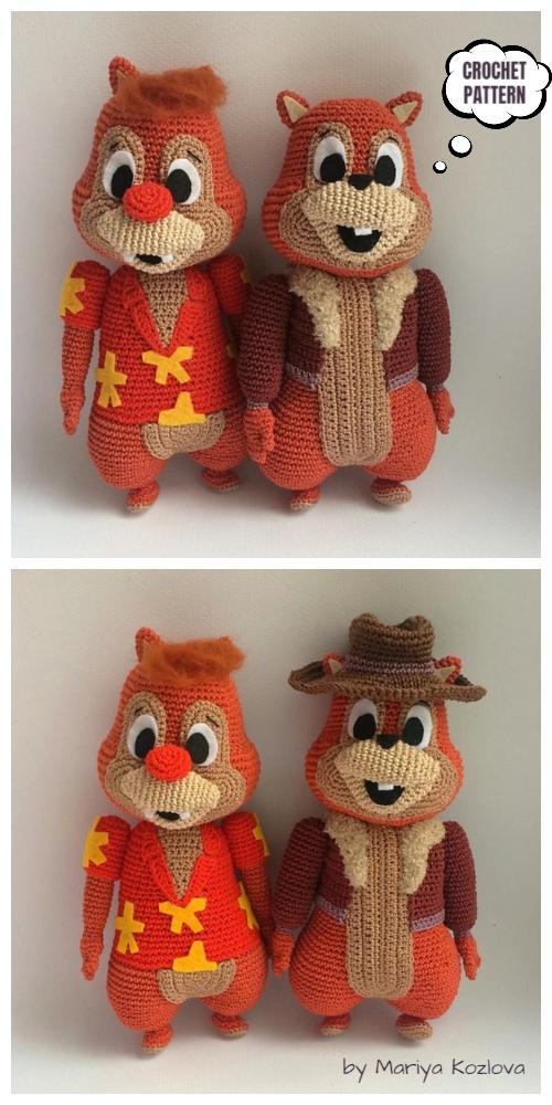 Crochet Chip & Dale Amigurumi Pattern