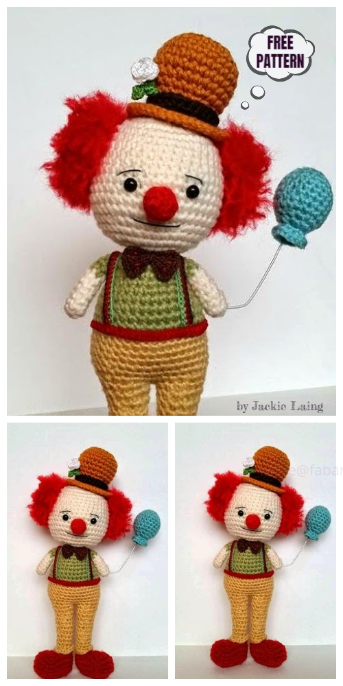 Crochet Clown Amigurumi Free Pattern