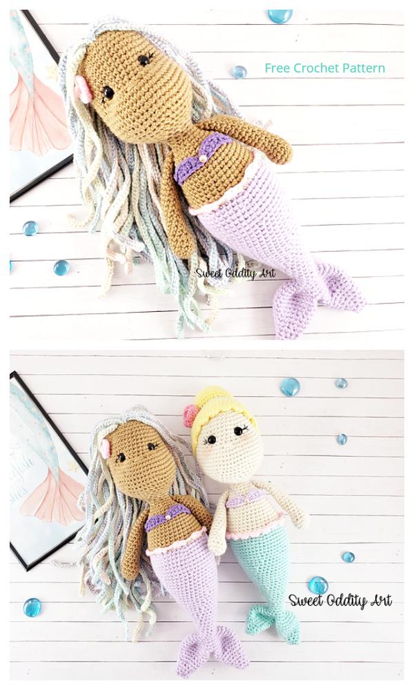 Crochet Mermaid Doll Amigurumi Free Patterns