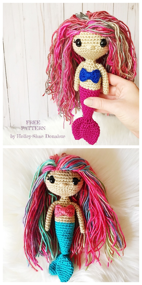 Crochet Lovely Mermaid Doll Amigurumi Free Patterns