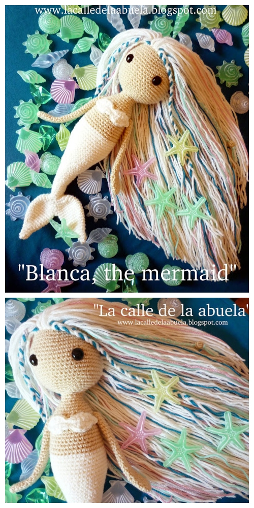 Crochet Blanca the Mermaid Doll Amigurumi Free Patterns