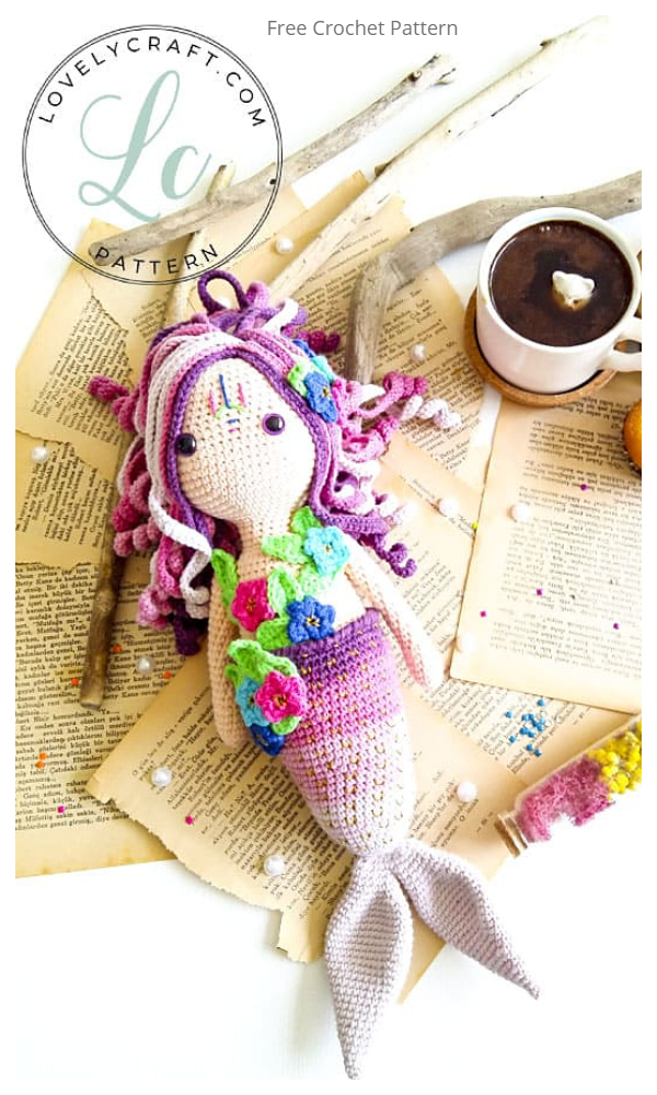 Crochet Mermaid Calypso Doll Amigurumi Free Patterns