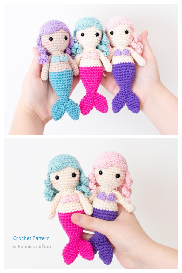 Crochet Lucy the Mini Mermaid Doll Amigurumi Patterns
