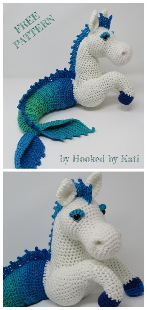 Crochet Murdock the Kelpie Horse Amigurumi Free Patterns
