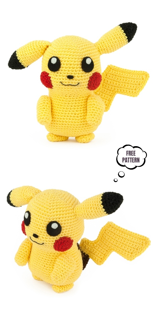 Crochet Pikachu Amigurumi Free Patterns