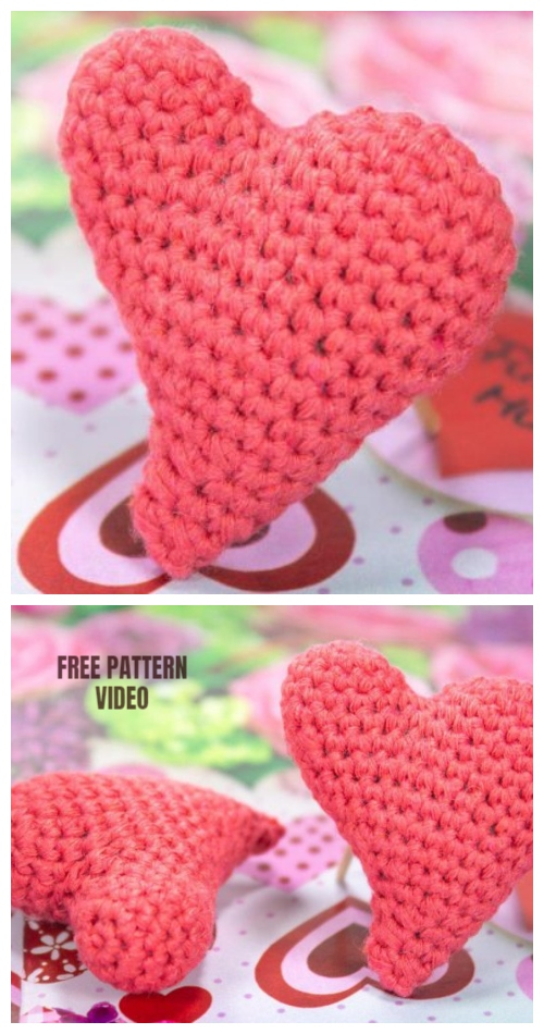 Amigurumi Crochet 3D Heart Free Patterns Perfect Valentine Gift Ideas | 950x500