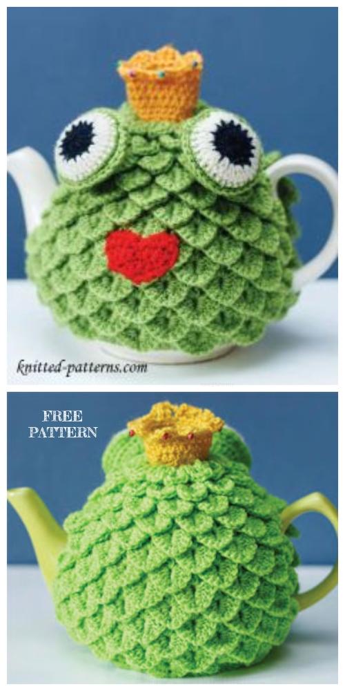 Crochet Crocodile Frog Tea Cozy Free Crochet Patterns