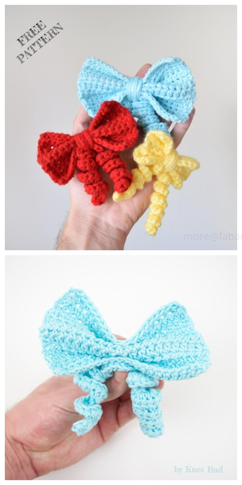 Crochet Curly Bow Free Crochet Pattern