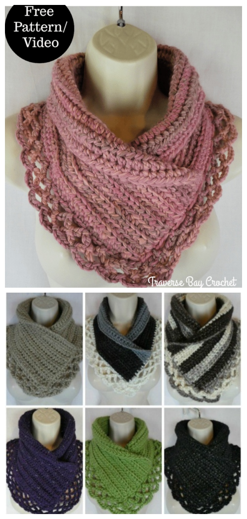 Crochet Lace Neck Warmer Free Crochet Patterns
