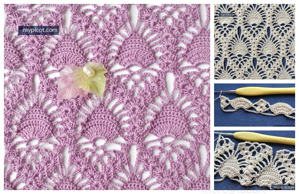 Crochet Lace Pineapple Stitch Free Crochet Pattern