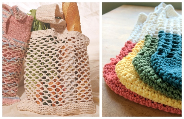 Mesh Market Bag Free Crochet Patterns