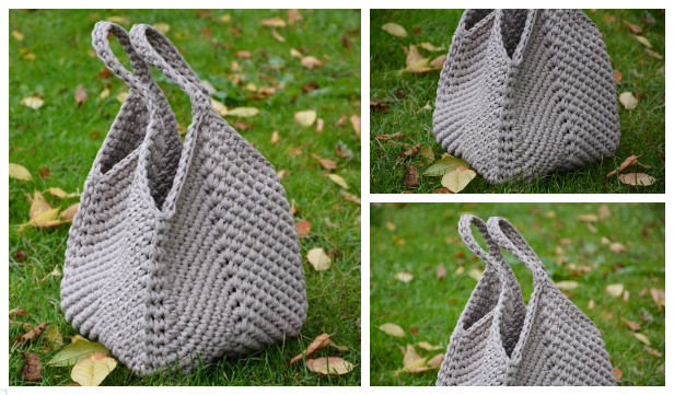 Solid Granny Square Handbag Free Crochet Pattern and Paid + Video