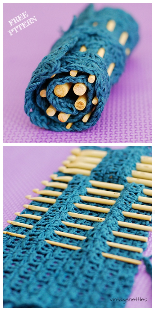 Crochet Star Stitch Hook Case Free Crochet Patterns