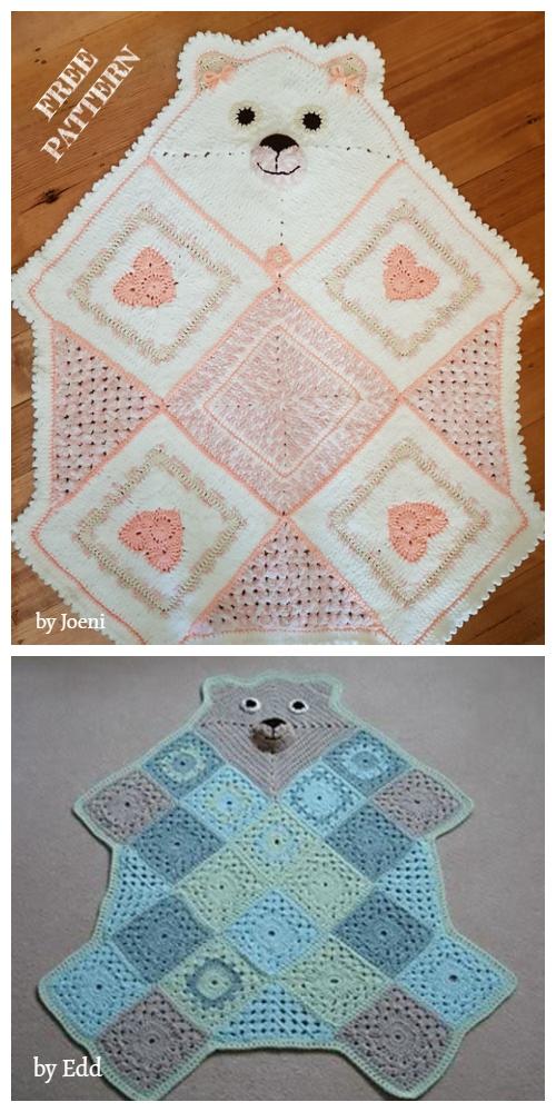 Crochet Teddy Bear Afghan Blanket Free Crochet Patterns