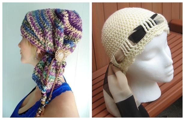 Crochet Tie Scarf Hat Free Crochet Pattern & Paid