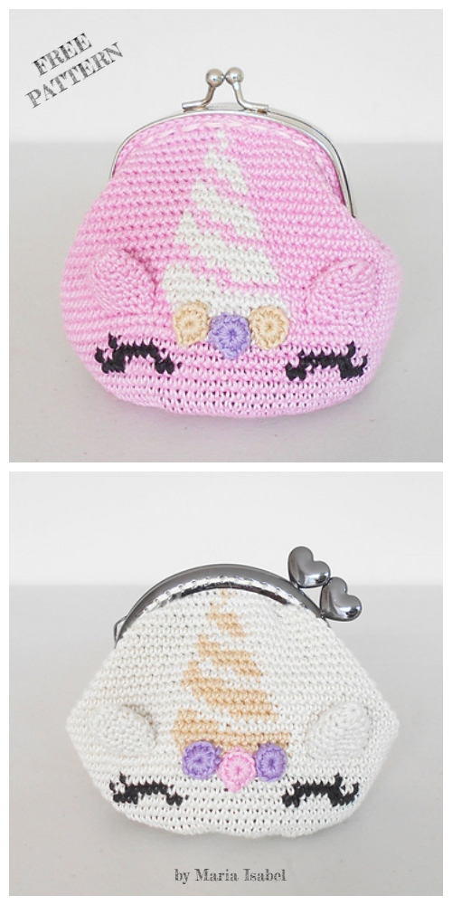 Unicorn Coin Purse Free Crochet Patterns