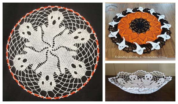 Halloween Ghost Doily Free Crochet Patterns