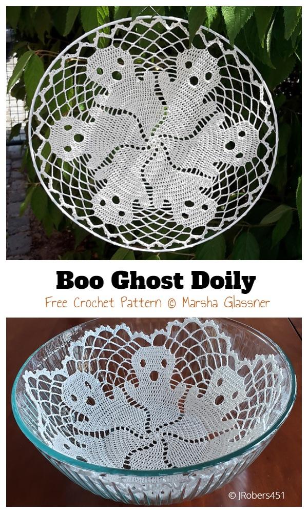 Halloween Ghost Doily Free Crochet Pattern