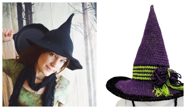 Halloween Witch Hat Free Crochet Patterns