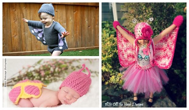 Halloween Baby Butterfly Costume Free Crochet Patterns