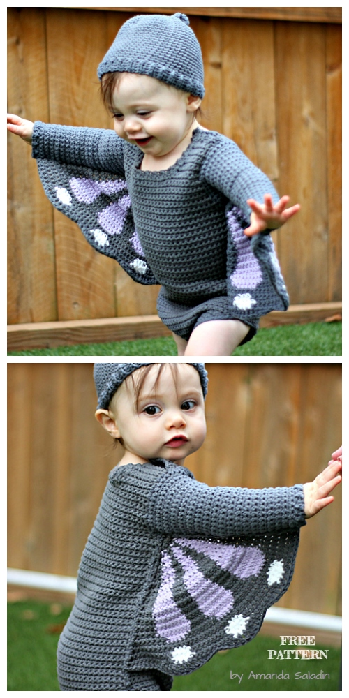 Halloween Baby Butterfly Costume Free Crochet Patterns