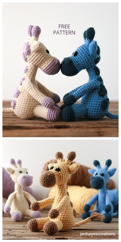 Crochet Small Giraffe Amigurumi Free Patterns