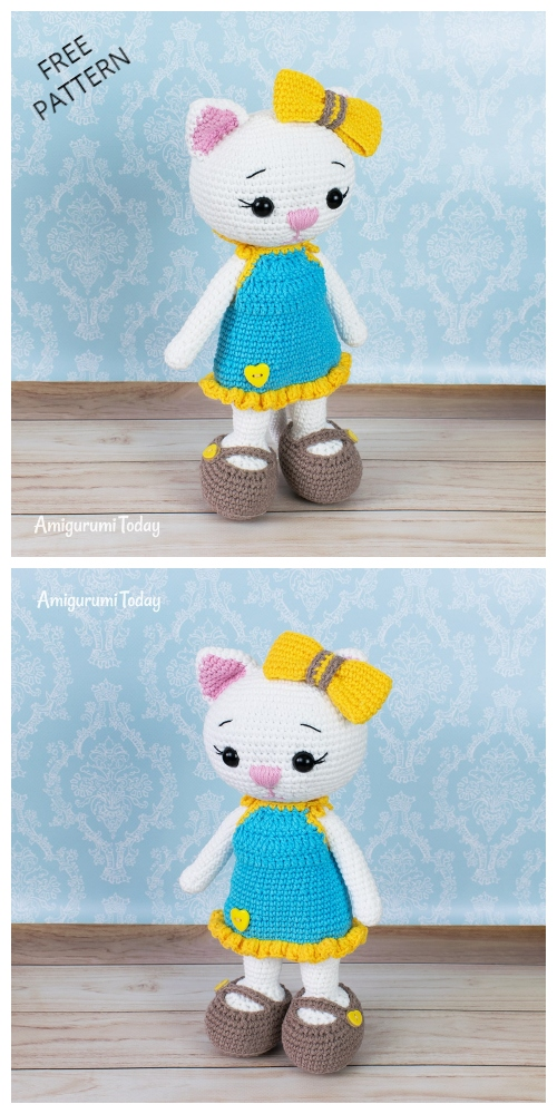 Crochet Cat Doll in Sundress Amigurumi Free Patterns