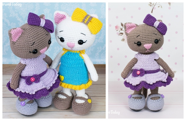 Crochet Cat Doll Amigurumi Free Patterns
