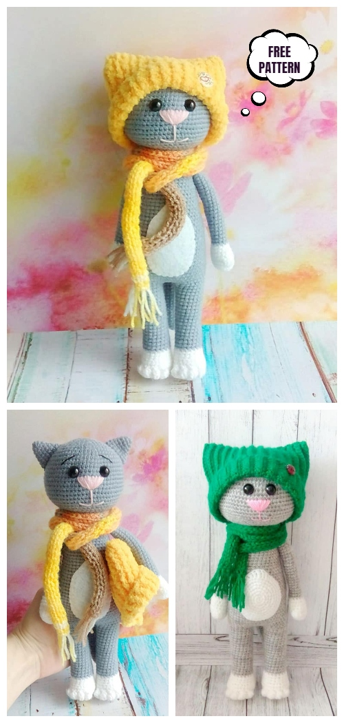 Amigurumi cat in a hat owls | 1050x500