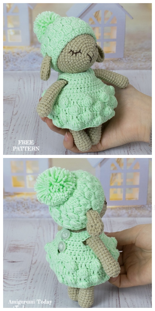 Crochet Minty Sheep Amigurumi Free Patterns