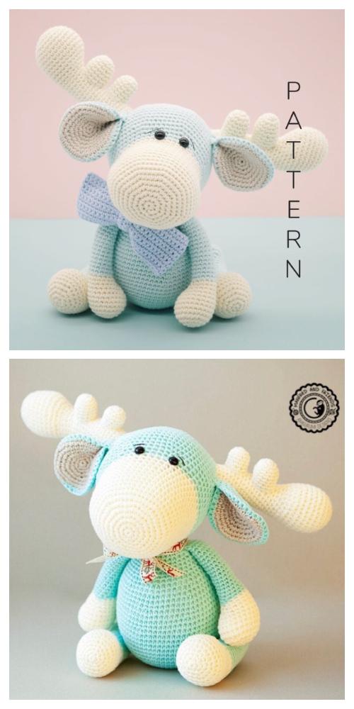 Crochet Monty the Moose Amigurumi Patterns