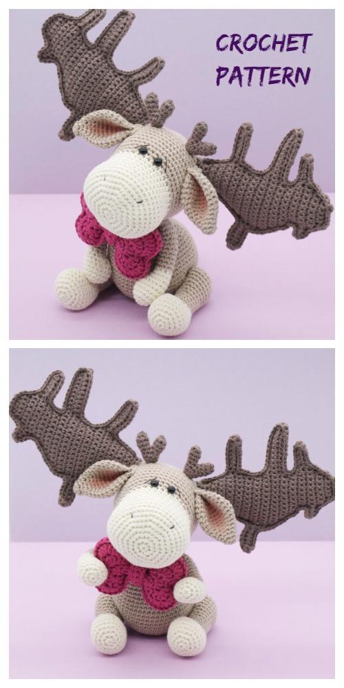 Crochet Paddy the Irish Elk  Amigurumi Patterns