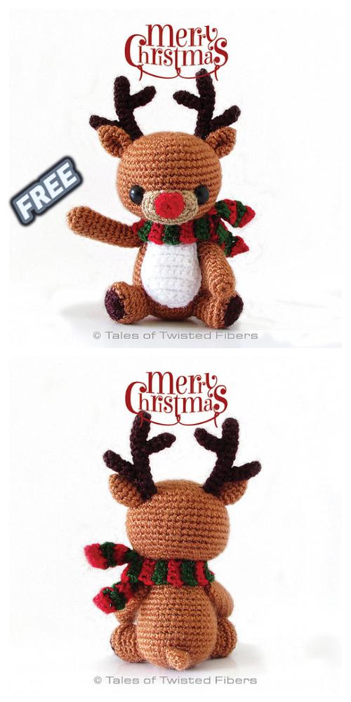 Crochet Rudy The Reindeer Amigurumi Free Pattern.