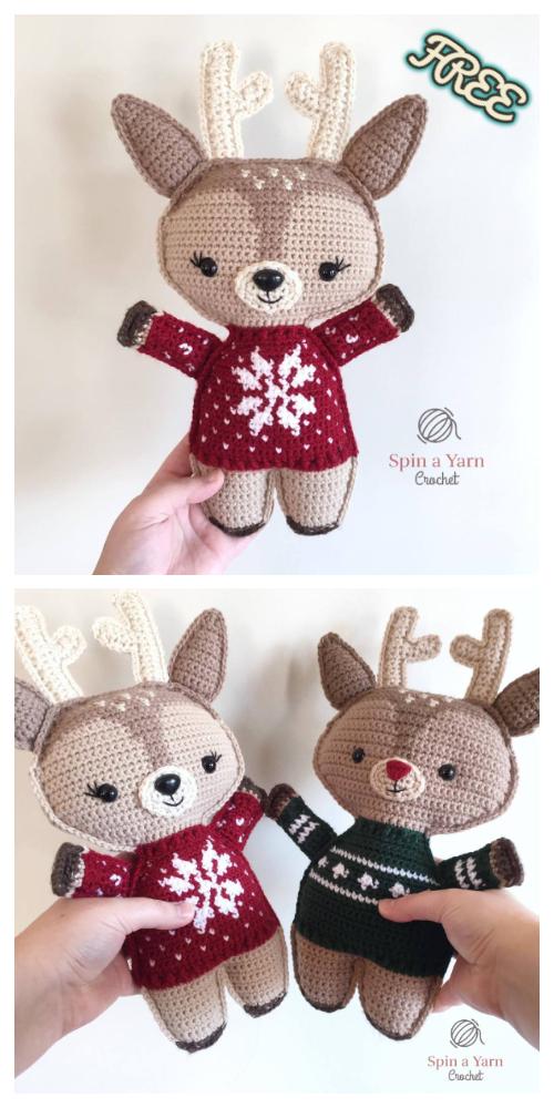 Crochet Holiday Deer Amigurumi Free Patterns