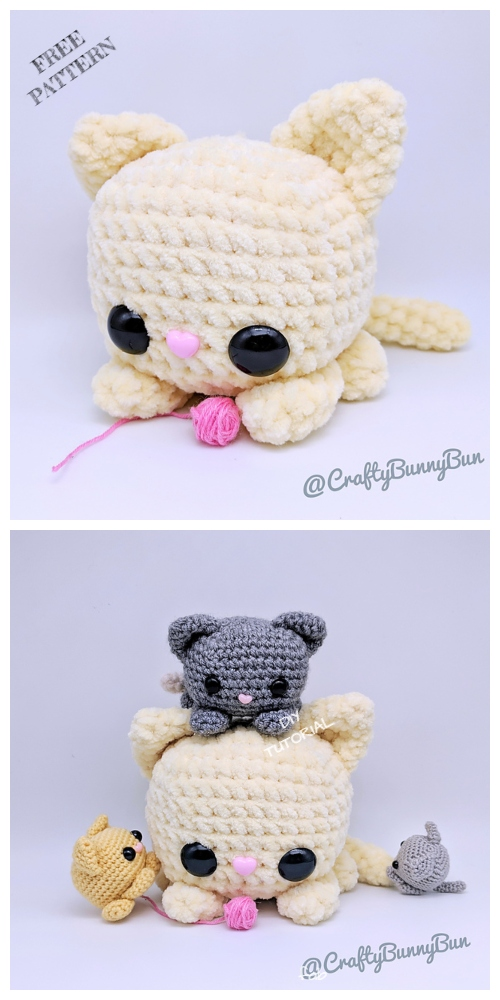Crochet Squishy Cube Kitty Cat Amigurumi Free Patterns