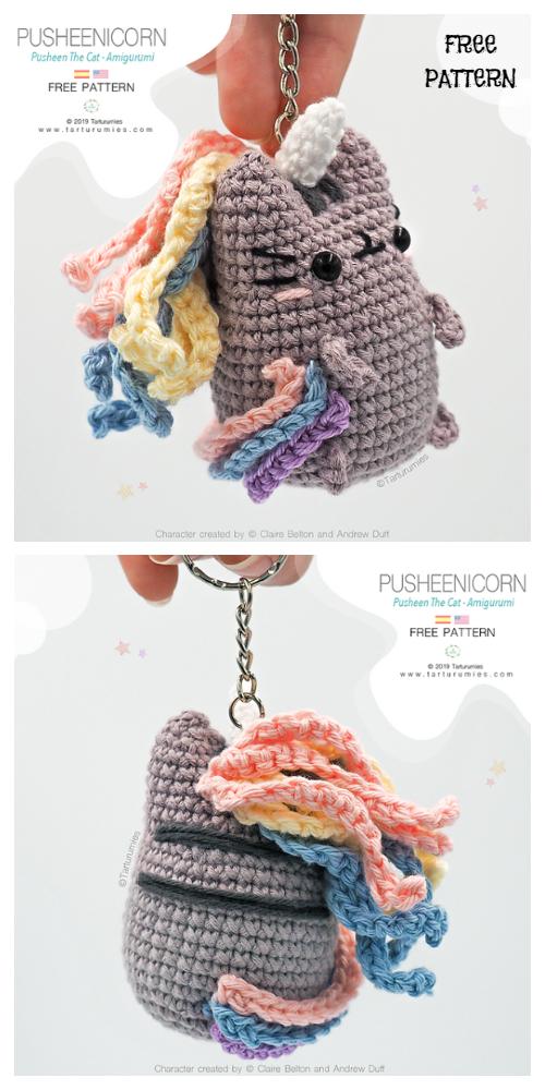 Cute Crochet Pastel Pusheen Amigurumi Free Patterns