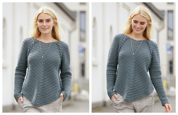 Easy Fall Pullover Sweater Free Crochet Patterns