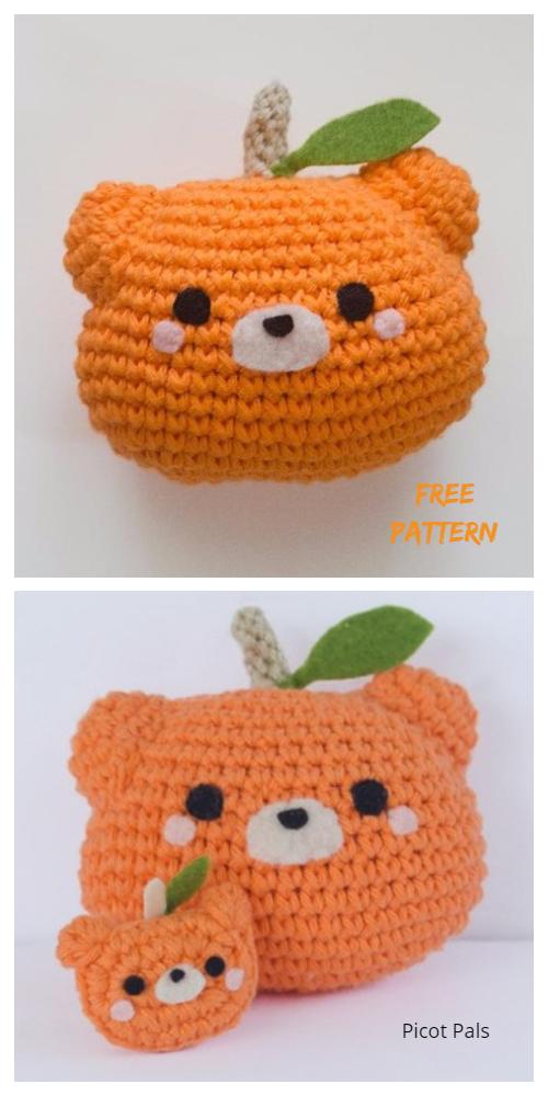 Halloween Crochet Pumpkin Bear Amigurumi Free Patterns