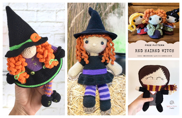 Halloween Crochet Witch Doll Amigurumi Free Patterns & Paid