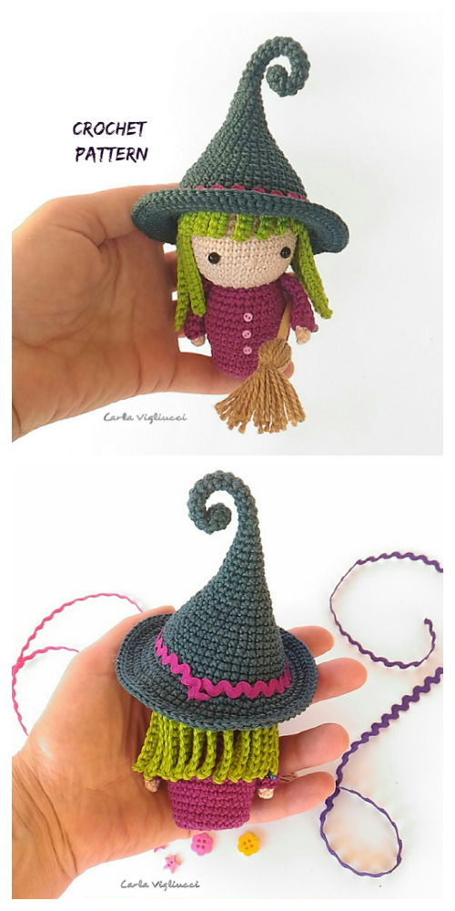 Halloween Crochet Little Witch Doll Amigurumi Patterns
