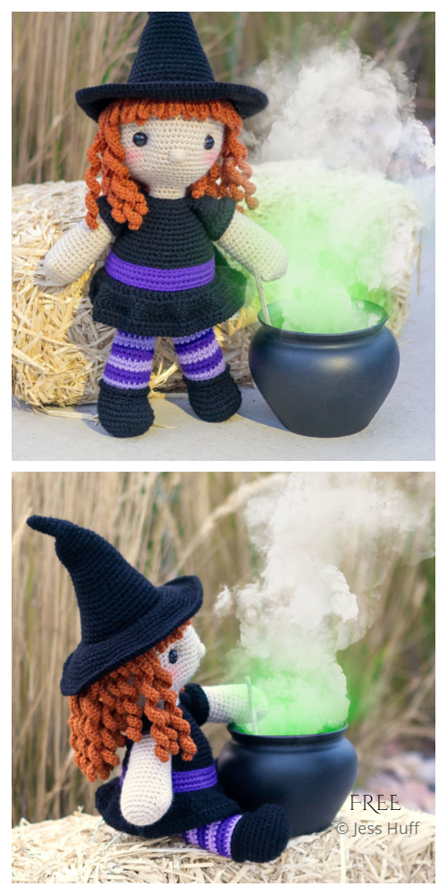 Crochet Regina the Witch Amigurumi Free Patterns