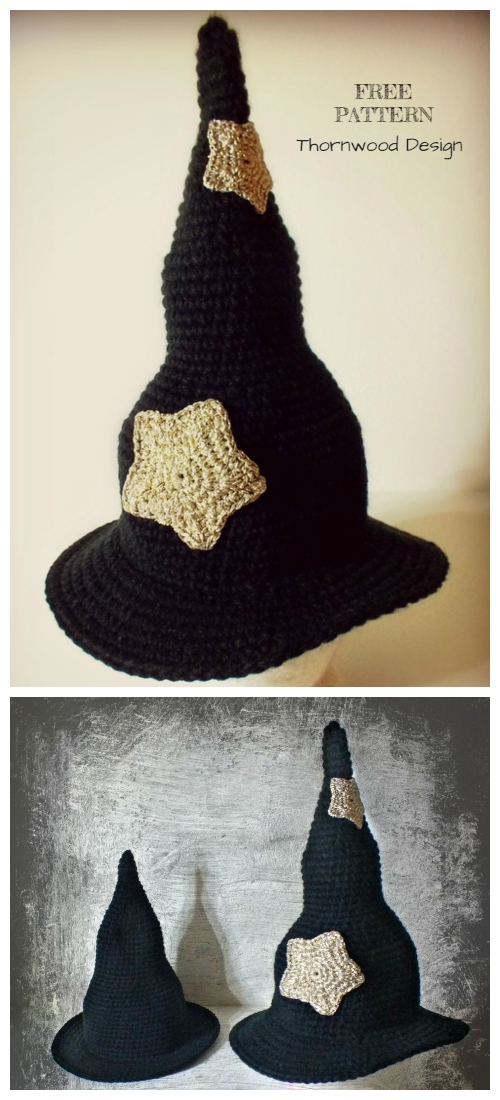 Halloween Witch Hat Free Crochet Patterns