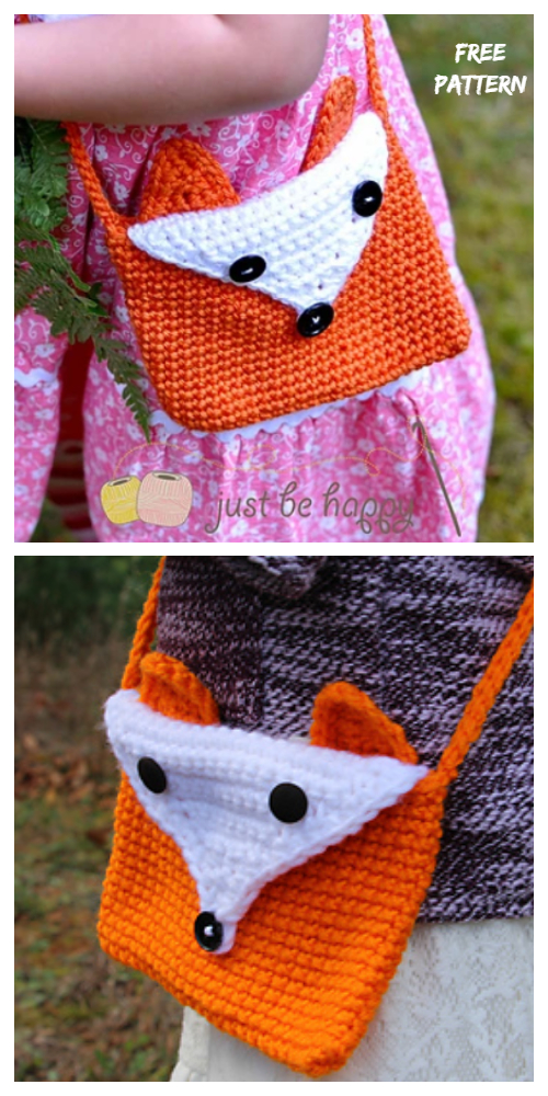 Crochet Kids Fox Purse Bag Free Crochet Pattern