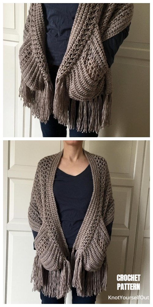BOHO Pocket Scarf Shawl Crochet Pattern