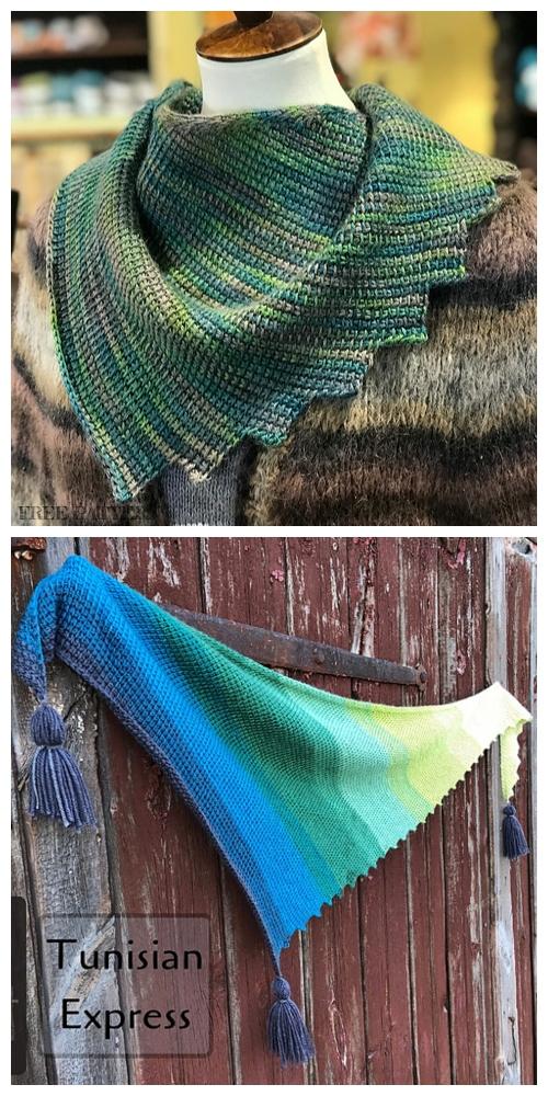 Nereide Tunisian Crochet Shawl Crochet Pattern