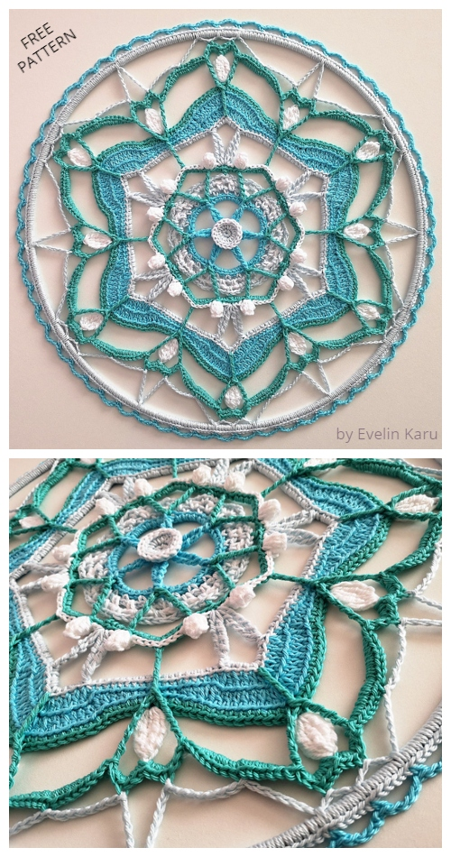 Whisper of Spring Mandala Free Crochet Pattern