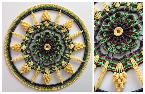 Touch of Sunbeams Mandala Free Crochet Pattern