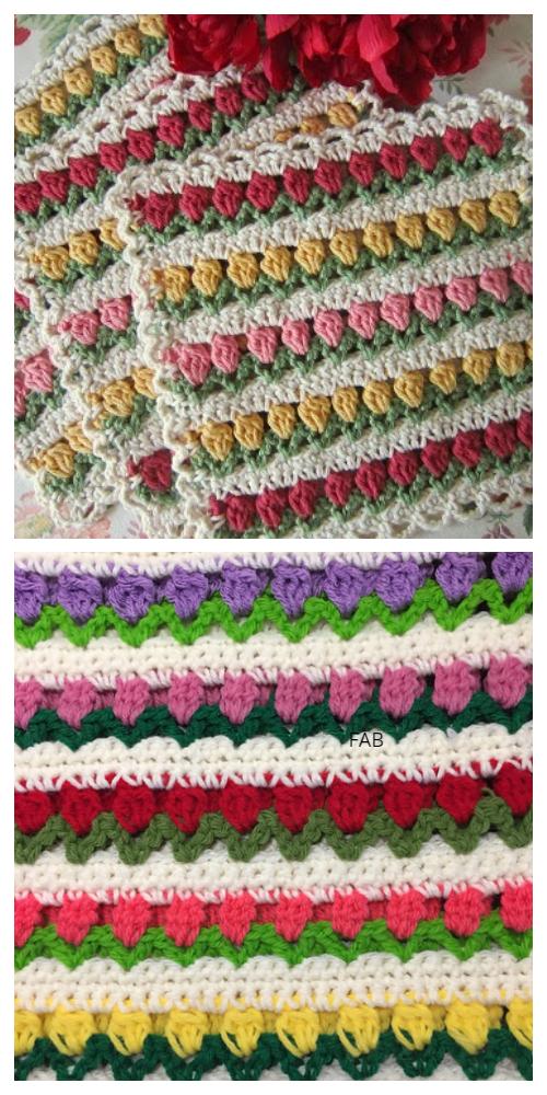 Crochet Tulip Stitch Free Crochet Patterns + Video